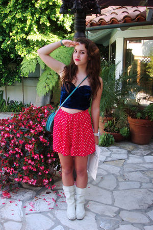 red shorts - blue Betsey Johnson
