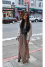 Grey-aqua-blouse-long-sheer-forever-21-skirt-cream-forever-21-cardigan