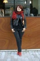 karen millen jacket - Parfois scarf - viktor & rolf for h&m top - Cavalli for H&