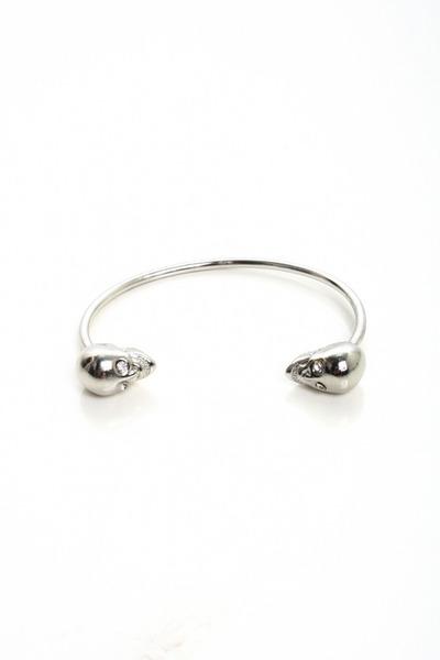 silver skull bracelet bracelet