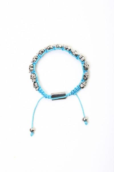 sky blue skull bracelet