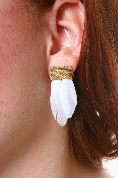 feather Serephina earrings