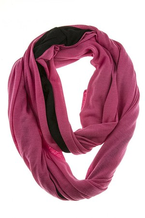 BLACK & PINK INFINITE SCARF LITAL scarf