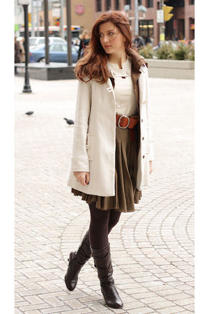white Vero Moda jacket - brown Zara jacket - orange Fossil belt - green Club Mon