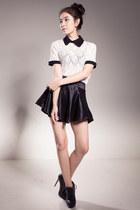 vanilla mood blouse - satin skirt ClubCouture skirt