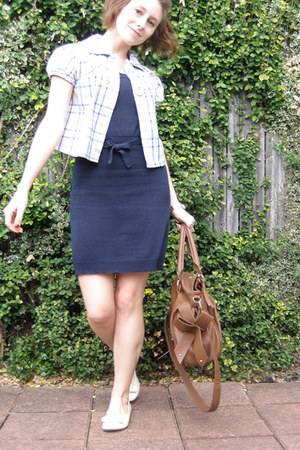 blue Wet Seal dress - light brown Vitalio Vera bag - ivory Piper and Blue shoes