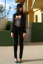 black Rodarte for Target cardigan - black Urban Outfitters jeans - blue Rocket D