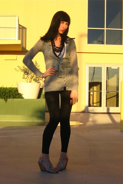 gray Rodarte for Target sweater - black American Apparel leggings - silver seych
