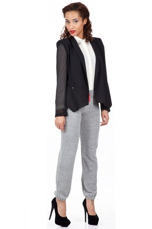 black Shoxie jacket - white Shoxie shirt - silver Shoxie pants