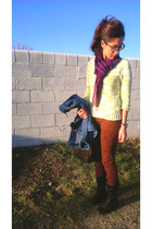 neon knit sweater