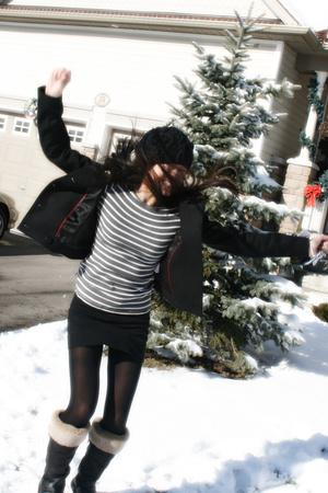 joe fresh style jacket - joe fresh style shirt - American Apparel skirt - H&M ti