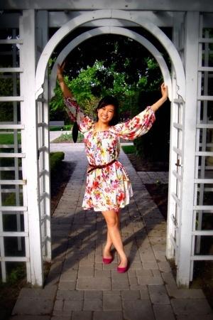 Mango dress - belt - Zara shoes