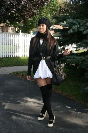 wilfred sweater - Costa Blanca dress - joe fresh style belt - Chloe purse - Aldo