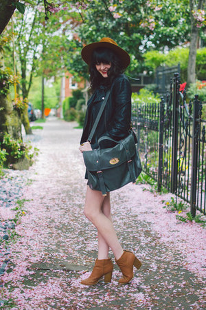 faux leather Topshop jacket - silk Missguided dress