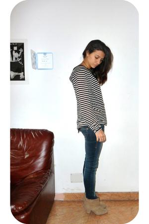 Zara shirt - Bershka jeans - Zara boots