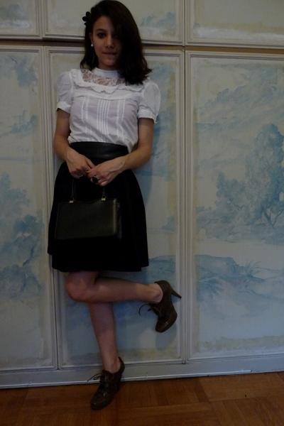 H&M shirt - H&M skirt - Pura Lopez shoes - none purse