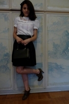 H&M shirt - H&M skirt - Pura Lopez shoes - none purse