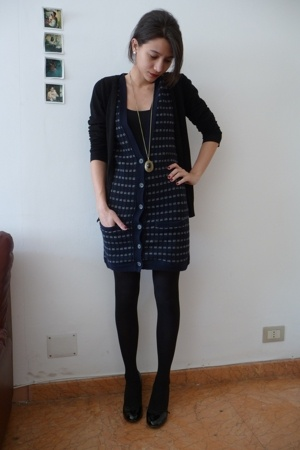 H&M blazer - Zara dress - bagatt shoes - H&M necklace