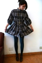 Zara dress - brown Pura Lopez shoes - green Cant remember tights
