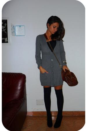 H&M dress - Calzedonia socks - D&G purse - bettyflowers shoes