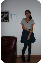 Pimkie shirt - H&M skirt - H&M tights - Bershka shoes