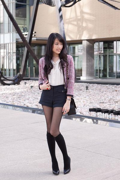 Pink Tweed H&m Jacket Maxi