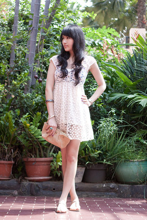 ivory sheer from overseas dress - ivory Armani Exchange bag