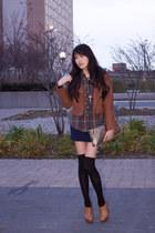 American Apparel socks - Zara boots - Forever 21 skirt