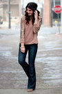 Dark-denim-seven-jeans-sequin-sleeve-target-top-forever-21-wedges