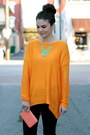 Citrus-savoir-faire-sweater-forever-21-bag-teal-savoir-faire-necklace