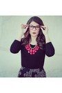 Riffraff-necklace-forever-21-shirt-riffraff-glasses-forever-21-wedges