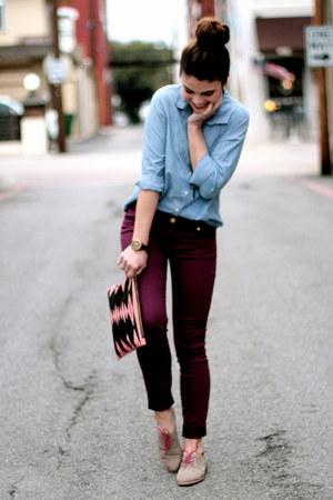 Brianne Faye bag - oxford Target shoes - Target pants - Gap top