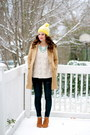 Skinnies-gap-jeans-camel-tulle-coat-pom-pom-beanie-gap-hat