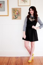 Forever 21 dress - gingham Forever 21 shirt - Anthropologie necklace
