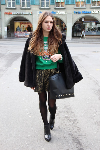 leather Topshop boots - faux leather asos bag
