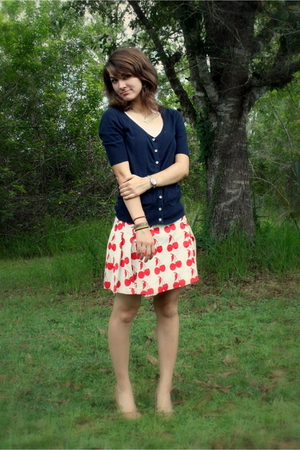Old Navy blouse - thrifted Luella skirt -  shoes