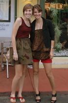 Target jacket - vintage blouse - vintage shorts - Target shoes