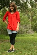 Mossimo shirt - American Eagle shorts - taiwan leggings - Converse shoes