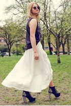 spikes Jeffrey Campbell heels - Zara skirt