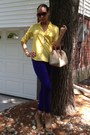 Purple-rag-and-bone-jeans-yellow-jcrew-shirt-off-white-dooney-burke-bag