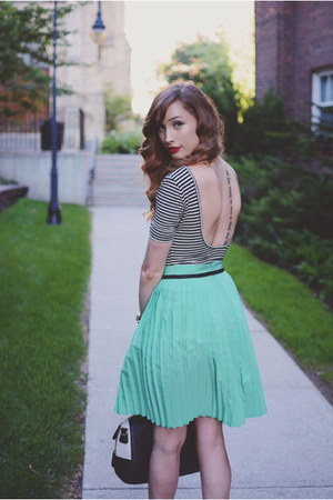 black American Apparel shirt - aquamarine American Apparel skirt