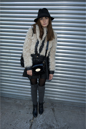 Topshop jacket - Stetson hat - leather Mulberry bag