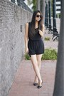Black-super-sunglasses-black-forever-21-romper