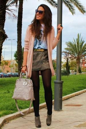 dior bag - Ebay t-shirt - DIY skirt