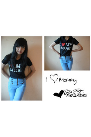 I Love Mom t-shirt - Zara Basic jeans