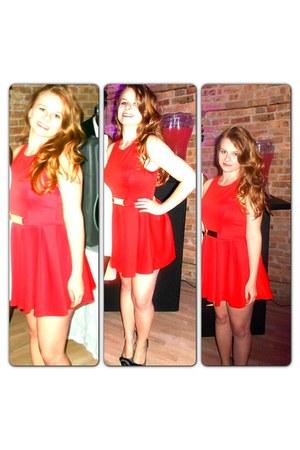 red Akira dress