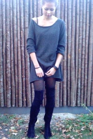 Femme dress - Zara boots