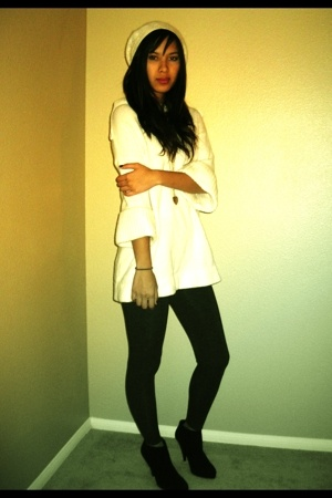 JCrew hat - Victorias Secret sweater - H&M tights - forever 21 shoes
