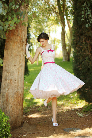 white The Frock Closet dress - white Becca & Louise heels