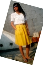 thrifted blouse - thrifted skirt - ITC belt - Matahari  JFK shoes - Trad Market